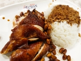 Hawker Chan's famous Michelin-starred chicken in soy sauce