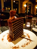 """20 Layer chocolate cake at """"Lavo"""" on top of the Marina Bay Sands hotel"""