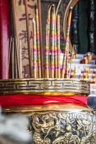 Incense sticks at a Chinese temple