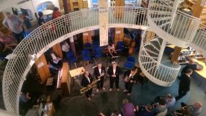 Jazz at the book tower next to the Büsing Palais.
