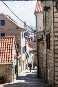 Narrow streets and brick houses